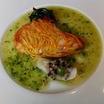 ラ・ブランシュ - メイン魚 マナガツオ、キュウリのソースで