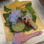 八勝閣 みづのを - 千枚蛸と夏野菜のサラダ