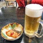 中華麺食堂かなみ屋 - 生ビールとお通し