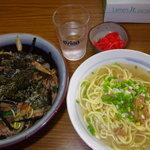 おいしん坊 - 豚スタミナ丼セット850円
