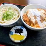 麺喰 - カツ丼セット