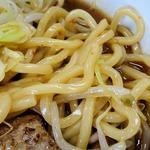 麺処なかがわ - 辛口らーめん+全のせ(麺アップ)
