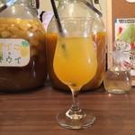 71801941 - ハイビスカス&リンゴ酢(ソーダ割)