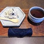 71803486 - 塩黒豆アイス、黒豆茶