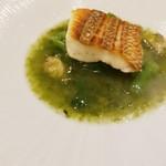 71805243 - 真鯛のソテー アサリと青海苔のソース