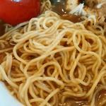 麺屋 武吉 - 麺がスープを吸っているようです。