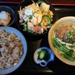 やいま食堂 - 選べる3点セット(ゴーヤちゃんぷる・ソーキ・じゅーしー)