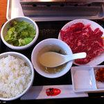 7181457 - 牛ハラミランチ(肉1.5人盛り)(1,200円)
