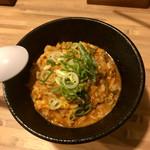 71810694 - 雑炊セット(ピリ辛肉味噌まぜそば)