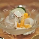 料理 澤 - まこがれい 石垣貝 剣先烏賊