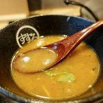 麺酔い すする 結庵 - スープ割り