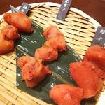 九州 熱中屋 - お通しの明太子