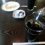 自由亭喫茶室 - ドリンク写真:ダッチアイスコーヒー&ケーキセット