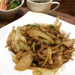 ジパング - 豚と野菜のキムチ炒め