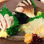 穂卓 - 炙りしめ鯖、真鯛昆布締め、イワシ