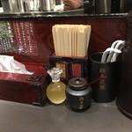麺屋武蔵 虎嘯 - カウンター上