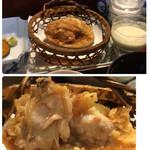 天ぷら新宿つな八 - 地ハマグリの姿揚げ