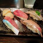 酒ノみつや - 寿司5貫