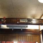 串カツ専門店 馬力 - 天井の梁は枕木らしいです-1