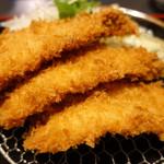 漣 - 料理写真:3尾のエビフライ