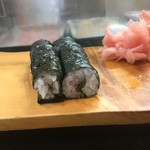 那古野寿司 - シメは梅しそ巻き300円で