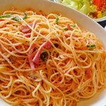 ミルキーウェイ - ベーコンとタラコのスパゲティ♪