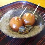 千松しま - 玉蒟蒻と田螺。