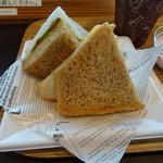 エクスパーサカフェ - サンドイッチのアップ