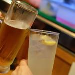 治郎丸 - 乾杯 生ビールとレモンサワー