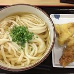 亀城庵 - 料理写真:ひやかけ大&キス天・とり天