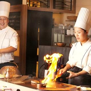 イタリアの一流ホテルで磨いた腕で作る一流の料理
