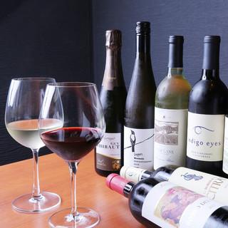 ワインは常時40種類ご用意!