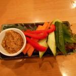 71836070 - 野菜ステック自家製味噌