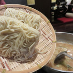 もつ処 堂平 - 特製チャンポン麺投入。