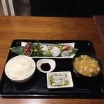 Wafu Dining Bar 欒 ‐Lan‐ - 天然活魚の刺身盛合せ定食2,000円