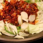 辰家 - オジンオブルゴギ(イカと野菜の甘辛炒め)
