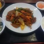 71840772 - ¥500ランチ豚レバー辛味炒め