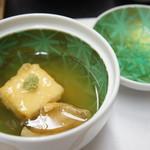 旬楽幸味 - 蒸し物、揚げ出し豆腐と小鯛のあんかけ(2017.8.21)