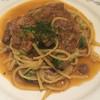 Asuperuju - 料理写真:豚スネ肉の煮込みとブロッコリのリングイネ☆★★☆