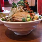 辛口炙り肉ソバ ひるドラ - 辛口醤油2.1.1野菜トリプル1000円