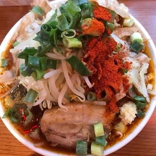 辛口炙り肉ソバ ひるドラ 鶴橋店 - 辛口醤油2.1.1野菜トリプル1000円
