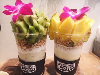 ライトハウスコーヒー - キウイタワーとパイナップルパワー