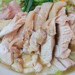 好味苑 - 好味苑 @本蓮沼 日替わりランチB 鶏肉麺の柔らかく蒸しあげられた鶏肉