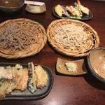 ろ - 天ぷら蕎麦 ¥1400×2