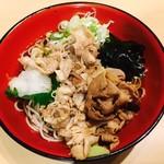 名代 富士そば - 冷肉富士(470円)