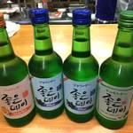 辰家 - 韓国焼酎:各種チェウンデイ
