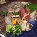 71849136 - 太刀魚,うるめ,鰹に蛸(800円)