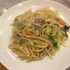 扶士古 - 料理写真:しょうゆ焼きソバ=上海焼きソバ