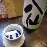 イサバのかっちゃの店 肴町のらぷらざ亭 - 陸奥八千特別純米酒もっきり(一合)750円