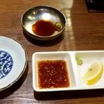 日本焼肉党 - タレ、セッティング完了してまぁ~す!